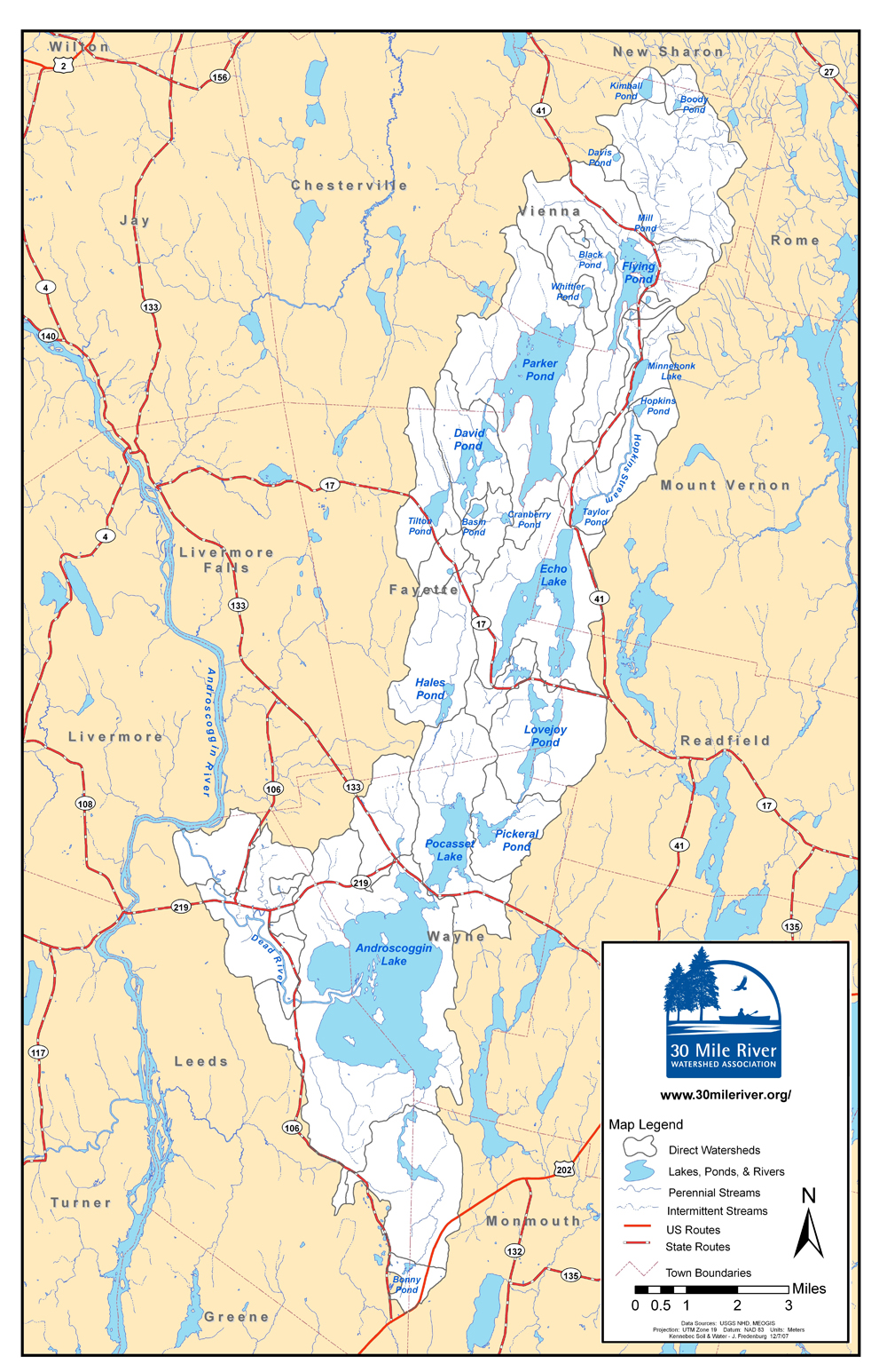 Watershed Map of the 30 Mile River Watershed Association